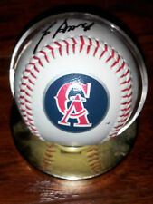 1994 ANGELS 125 ANNIV LOGO BALL 6 AUTOGRAPHS SMITHS PHILLIPS, PEREZ, EASLEY+