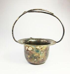 Antique Art Nouveau James Dixon & Sons silver plated basket dish plate bowl