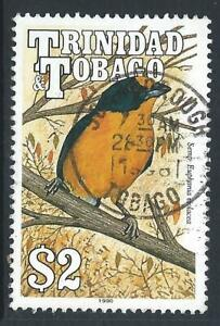 Trinidad & Tobago 1990 Birds $2 Yellow Oriole Fine Used Stamp