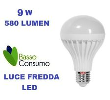 LAMPADINA LED GLOBO ATTACCO E27 LUCE FREDDA 9W 580 LUMEN CLASSE A+ VALEX 1155197