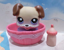 ❤️AUTHENTIC Littlest Pet Shop #143 FRECKLES PUPPY DOG BOXER TAN ACCESSORIES LPS