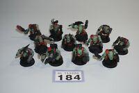 Warhammer 40k Space Orks - Ork Boyz x 12 - LOT 184 Painted