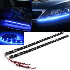 """2pcs 24"""" 8000K Ultra Blue 30-SMD LED Strip Lights For DRL Fog Light Door Lights"""