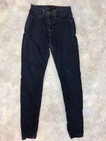 Flying Monkey Women's Blue Dark Wash Stretch Skinny Denim Jeans Size 25