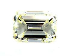 GIA Certified Natural Emerald Shape Loose Diamond 2 CT Light Yellow SI1 Clarity