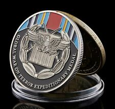 Global War On Terror Expeditionary Medal | Military Silver Plated Challenge Coin