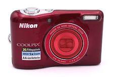 Nikon Coolpix L32 20.1 Cámara Digital MP -ROJO