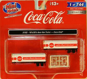 NEW N CMW 51182 1940-1950s 32' Aero Van Trailers Coca Cola 2 Pk