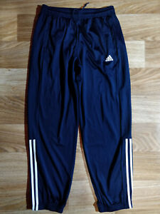 Adidas Mens Tracksuit Pants Trousers Training Navy Blue White Stripes