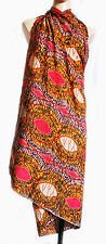 Beach wrap scarf sarong/pareo, swimwear cover up Earty colors tie-dye print new