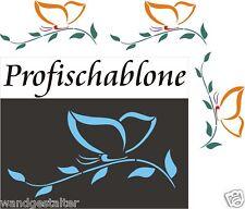 Wandschablone, Malerschablone, Wanddekor, Schablone, Schmetterling mit Zweig XXL
