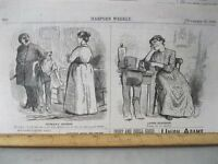 Vintage Print,WOMANS RIGHTS,Harpers,1876