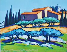 QUILICI*LITHO*ORIGINALE*ALPILLES*PROVENCE*12*OR*BLEU*SOLEIL*MUSEE*RARE*COLLECTOR