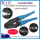 AWG 22-10 0.5-6.0mm2 Insulated Wire Terminals Connectors Ratcheting Crimper Tool