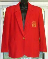 Peter Nygard Women's Red Ladies Blazer Jacket Size 12 Red Gold Career Wear
