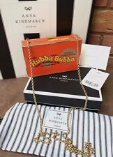 ANYA HINDMARCH SNAKESKIN RETRO HUBBA BUBBA BUBBLE GUM BOX CLUTCH RETAIL £995