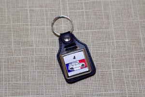 Renault 4 Keyring - Leatherette and Chrome Keytag