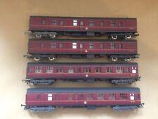 Four Lima crimson BR coaches 305342 305364 .... M25290, M25623, M25742 boxed