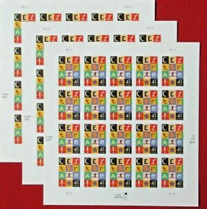 Three Sheets / Panes x 20 = 60 Of CELEBRATE ! 41¢ US USA Postage Stamps Sc# 4196