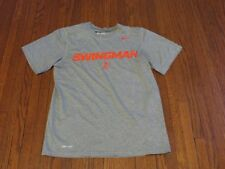 Nike Dri-Fit Swingman Grey Crimson Griffey T-Shirt sz S