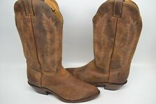 Boulet 9026 Women Cowgirl RIDING Boot ROUND TOE BROWN LEATHER 11 M CANADA $269