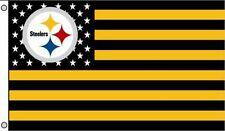Pittsburgh Steelers with Us Stars Stripes Flag 3x5Ft Polyester Steelers Nation