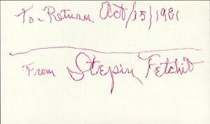 STEPIN FETCHIT Autograph