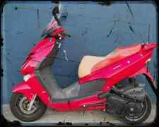 Aprilia Leonardo 150 03 03 A4 Metal Sign Motorbike Vintage Aged