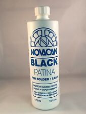 16 Oz Novacan Black Patina For Lead & Solder - Stained Glass Supplies