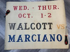 Vintage Walcott Vs Marciano Theater Promotion Poster The Lady And The Bandit