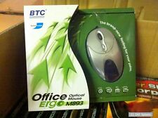BTC M893 4D Office Ergo Mouse USB / PS2, Kabel Maus, 800 DPI, 6 Tasten, Silber