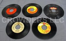 "5 - 7"" 45 RPM Vinyl Singles Joe Tex the Beatles Curtis Mayfield & Bobby Womack"