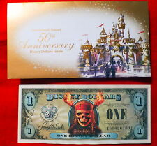Mint Disney Dollars Pirates of the Caribbean One Disney Dollar 2007 Series