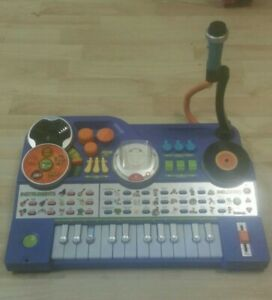 VTech KidiJamz DJ Music Sing Studio Keyboard Piano- Blue- with MP3 Player+ Mic