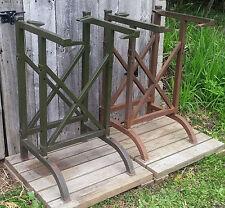 Pair Matching Antique Vintage Industrial Drafting Work Table Legs Frames