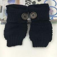 Women Ladies Mittens Fingerless Wrist Knitted Wool Winter Warm Gloves W