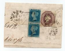 More details for part letter 1856 scots inverness used with sg 34 / 2d blue pair & 6d embossed