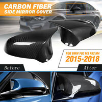 CARBON FIBER SIDE REARVIEW MIRROR COVER REPLACEMENT FOR BMW F80 M3 F82 M4 15-18