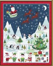 Frosty Avvento Calendario pannello in tessuto-Babbo Natale Natale Makower pannello per rendere