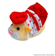 Zhu Zhu Hamsters Pet Outfit Spring Polka Dot Dress & Hat Clothes - New