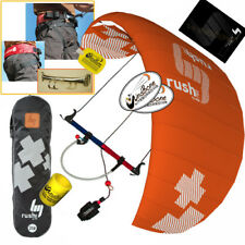 HQ4 Rush Pro 350 3.5M Trainer Power Kite Kiteboarding Snowkiting Snow + Harness
