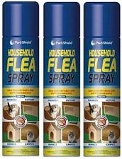 3 X 200ml Household Flea Killer Spray For Cat Dog Bed Carpet Soft Furniture Bed