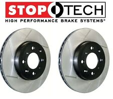 For Mitsubishi Lancer AWD Pair Set Front Left & Right Slotted Brake Rotors