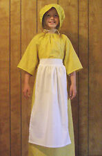 3pc Girls Prairie Book Report Costume w Apron, Any Color Sz 12