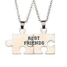 Collana per COPPIA Best Friends 2 COLLANE CIONDOLO PARTNER PUZZLE AMICIZIA NUOVO