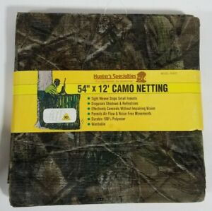 "Hunters Specialties 05435 Camo Netting Packaged 54""x12 Ft NEW"