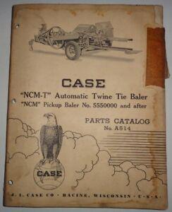 Case NCM-T & NCM Twine Tie Baler Parts Catalog Manual book Original!