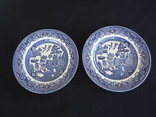 2 churchill blue willow pattern bread  & butter plates  several pairs available