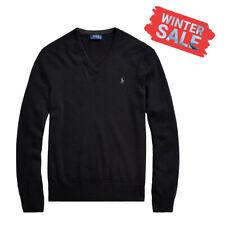 Polo Ralph Lauren Herren Pullover V-Neck in schwarz mit weißem Polomotiv S-XXL