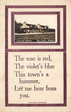 RPPC UNION DEPOT Billings, Montana Railroad Station 1920 Poem Vintage Postcard